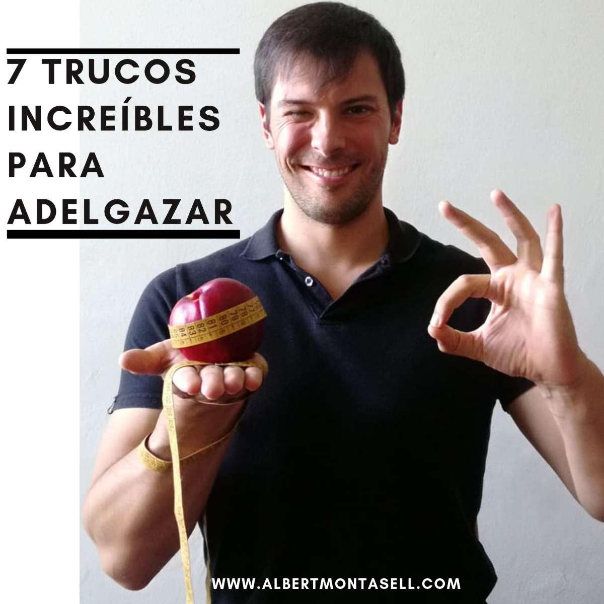 albert montasell enseña una manzana envuelta con una cinta metrica