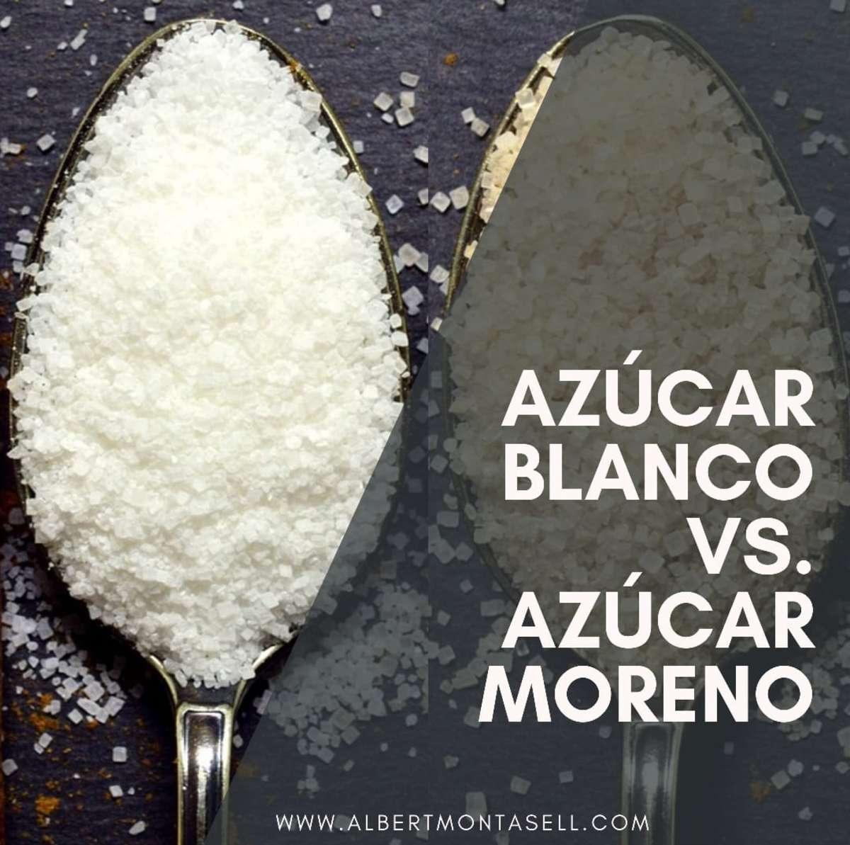 azucar moreno o azucar blanco